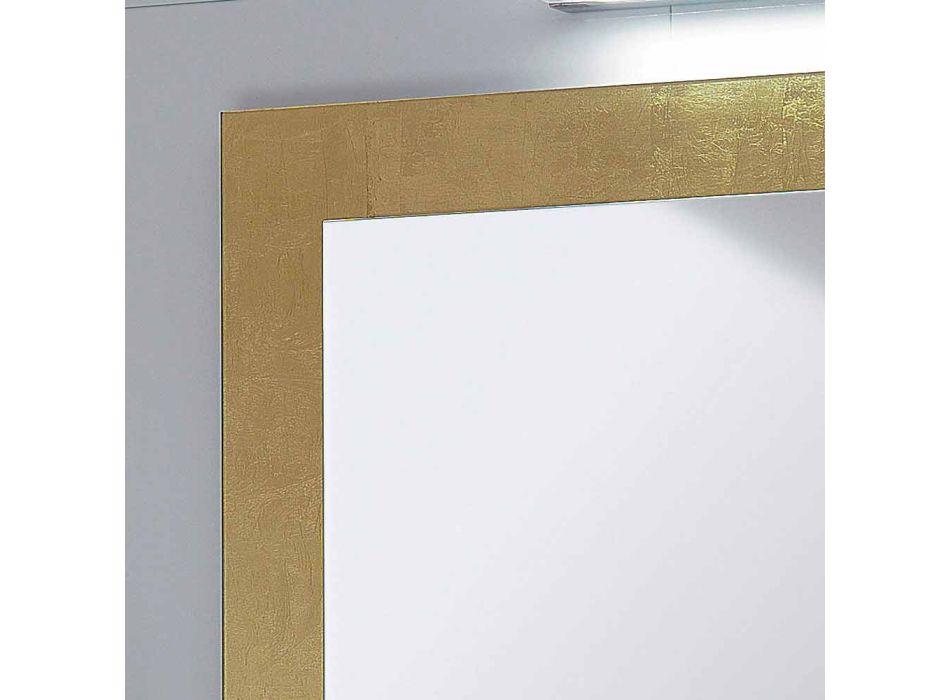 Badrumsspegeln glas ram dekorerad Pascal bladguld