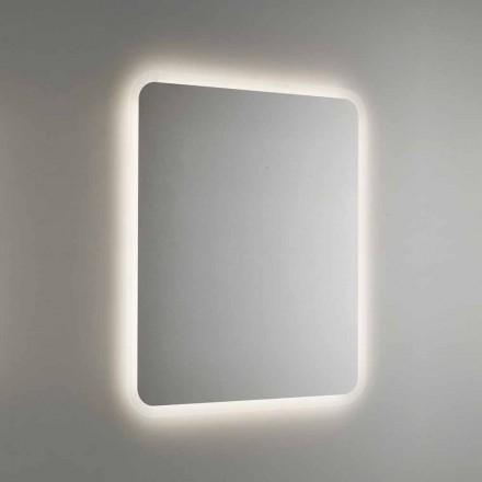 Rundad badrumsspegel med LED-bakgrundsbelysning Made in Italy - Pato