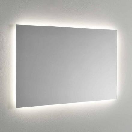 Väggspegel med LED-bakgrundsbelysning på 4 sidor tillverkad i Italien - Romio