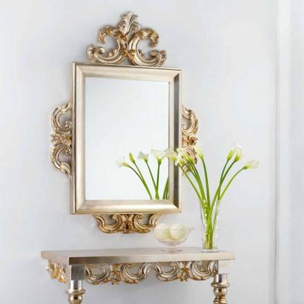 En spegel klassisk design Guy, 113x155 cm, tillverkad i Italien