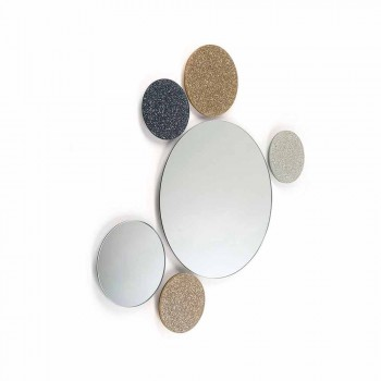 Spegel rund utformning vägg modeno gjort i Italien ADDO