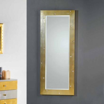 Spegelvägg / golv modern design med Swarovski kristaller
