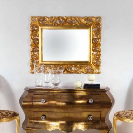 Mirror designen bladguld fullföljande vägg Gudin, 108x87 cm