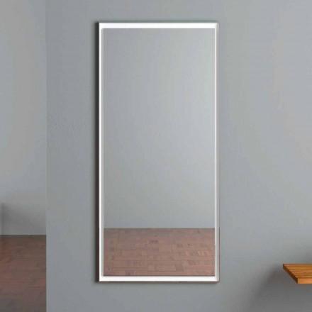 LED-upplyst väggspegel med beröringsbrytare tillverkad i Italien - Ammar