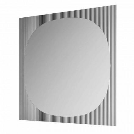 Modern fyrkantig väggspegel i Smokey Color Tillverkad i Italien - Bandolero