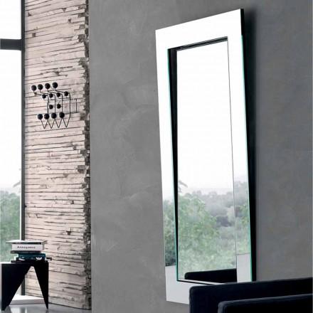 Rektangulär väggspegel med lutande ram tillverkad i Italien - Salamina