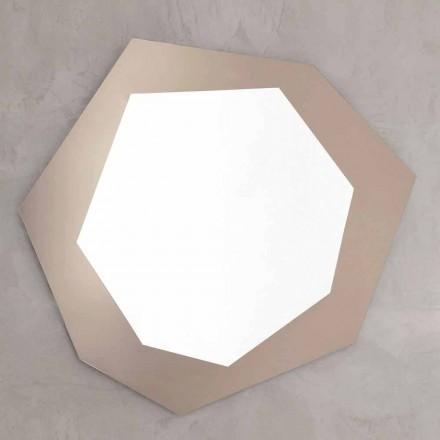 Formad väggspegel med glasram tillverkad i Italien - klor