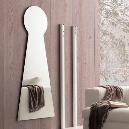 Formad väggspegel med melaminpanel Tillverkad i Italien - Bromo