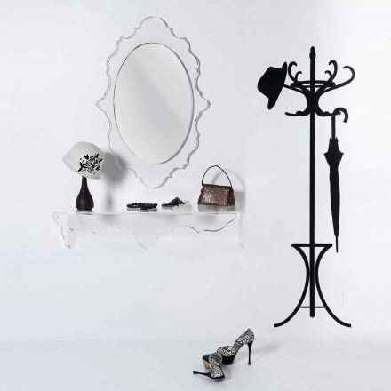transparent spegel Joy design, tillverkad i Italien