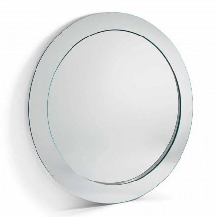 Modern rund frittstående spegel med lutande ram tillverkad i Italien - Salamina