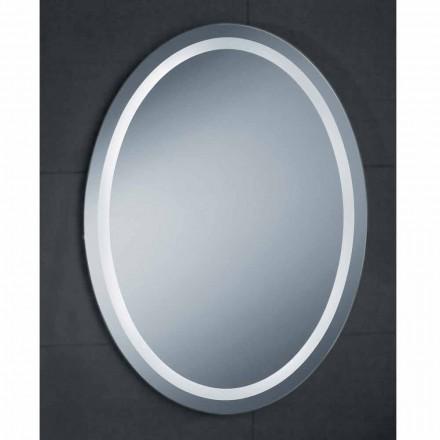 Mirror modern design med LED-belysning bad Ren