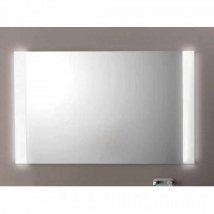 Moderna badrum spegel med LED-lampor, L1200xh.900 mm, Agata
