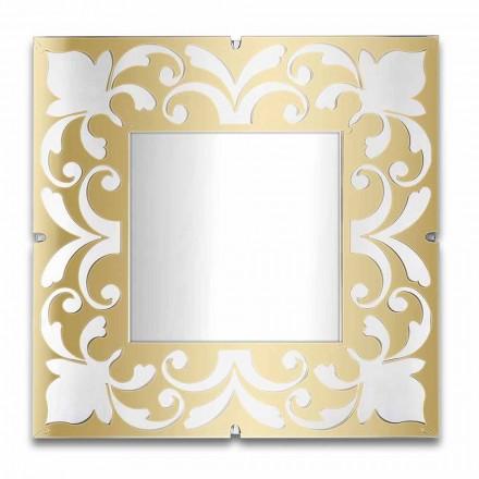 Fyrkantig spegelram i plexiglas guld, brons, silver design - Foscolo