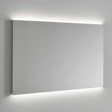 LED-bakgrundsbelyst väggspegel, stålram tillverkad i Italien - Tundra