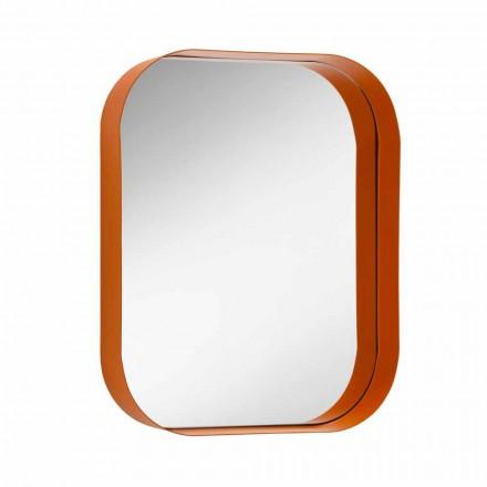 Rundad rektangulär spegel med metallram Olika färger - Alexandra