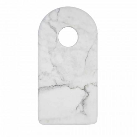 Skärbräda i vit vit Carrara Marble Design tillverkad i Italien - Amros