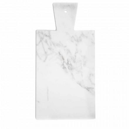 Modern skärbräda i vit Carrara-marmor tillverkad i Italien - Biblon