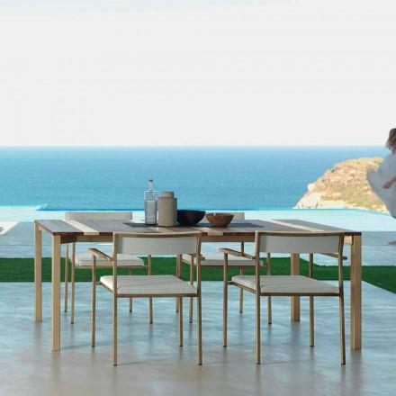 Talenti Casilda design trädgårdstabell L260xH76cm tillverkad i Italien