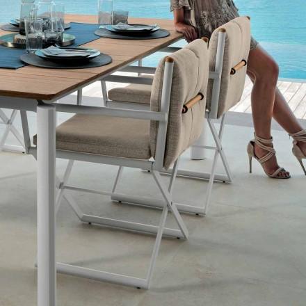 Talenti Domino direktörstol för utomhusdesign tillverkad i Italien