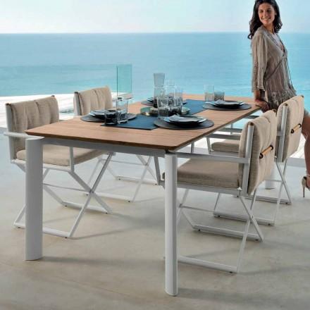 Talenti Domino utdragbart trädgårdsbord 160 / 215cm tillverkat i Italien