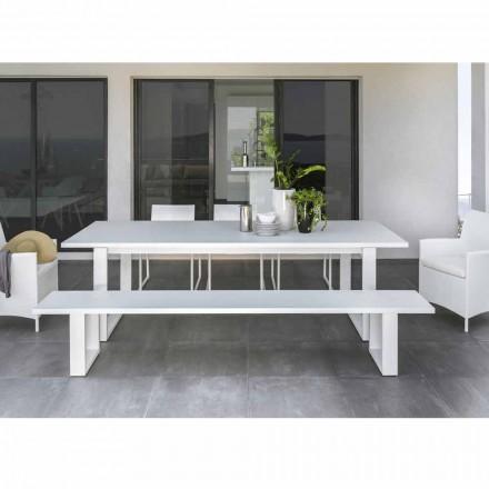 Talenti Essence vit aluminium trädgårdsbänk tillverkad i Italien
