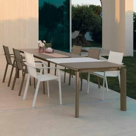 Talenti Milo förlängbart matbord utomhus tillverkat i Italien