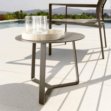 Talenti Touch trädgårds soffbord i aluminium d.45 tillverkat i Italien