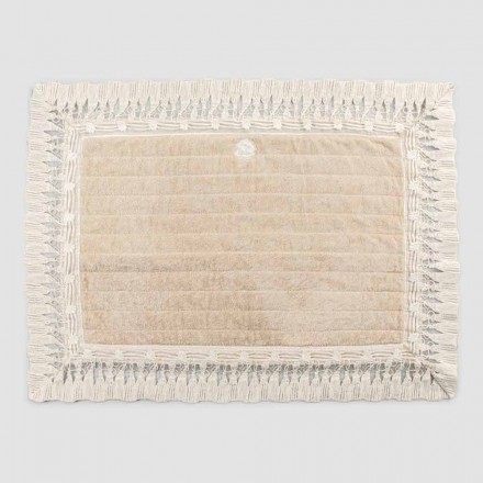 Cotton Terry Rectangle Bath Matta med lyxig tofsspets - Lippon