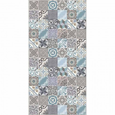 Modern Coloured Fantasy Pvc och Polyester Kitchen Rug - Belita