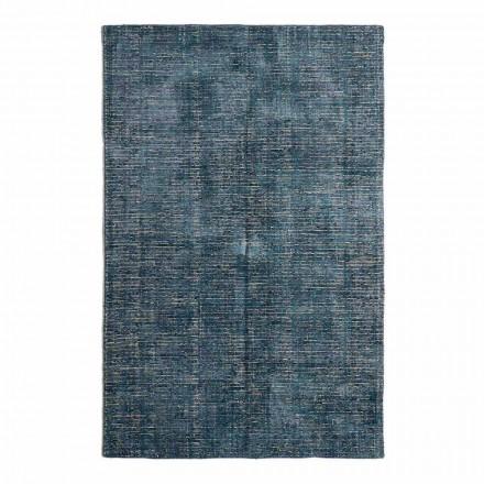 Vardagsrumsmatta i bomull, viskos och ull producerad på manuell vävstol - Melita