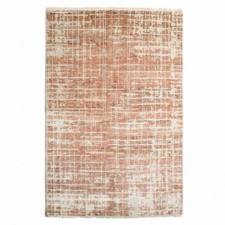Modernt handvävd vardagsrumsmatta i ull och bomull - Neppo
