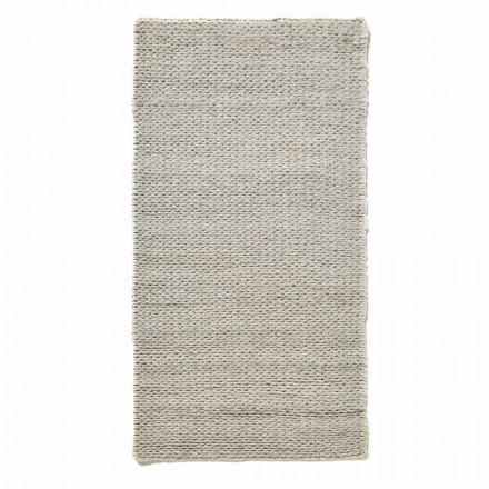 Modernt handvävd vardagsrumsmatta i polyester och bomull - Tabatha