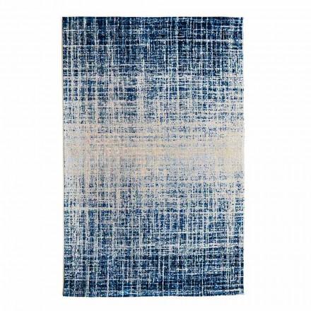 Design Rektangulär vardagsrumsmatta i polyester och bomull