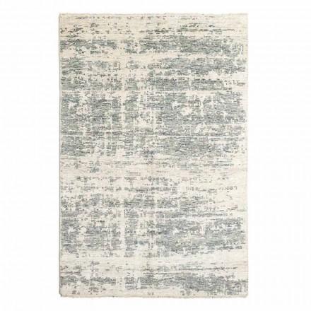 Handvävd designmatta i ull och bomull för vardagsrum - Koppar