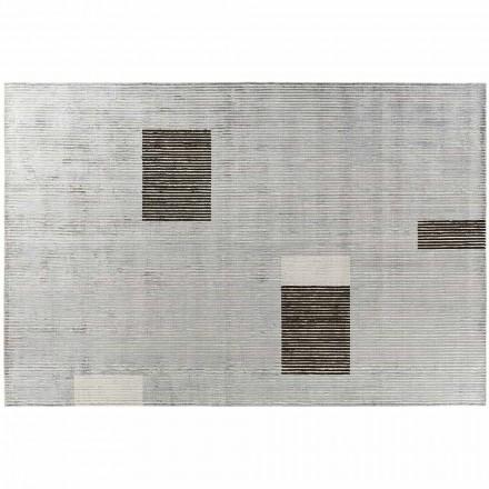 Handgjord modulär färgad matta i viskos vävd i Indien - Gilberto