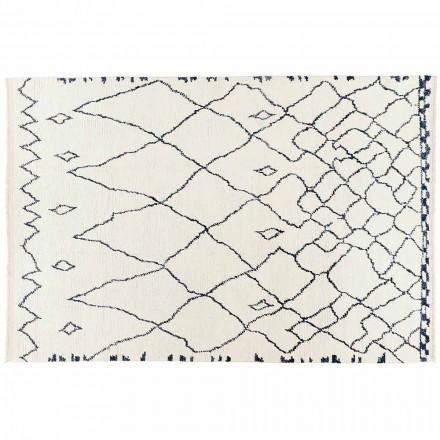 Handgjord Long Pile Wool Rug Handknuten i Turkiet - Benedetta