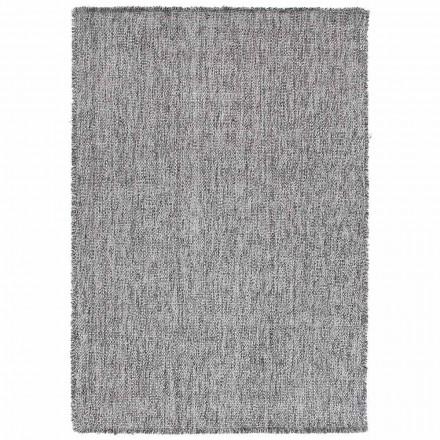 Modern design Big Fringing Carpet i svart eller grädde ull - Jacqueline