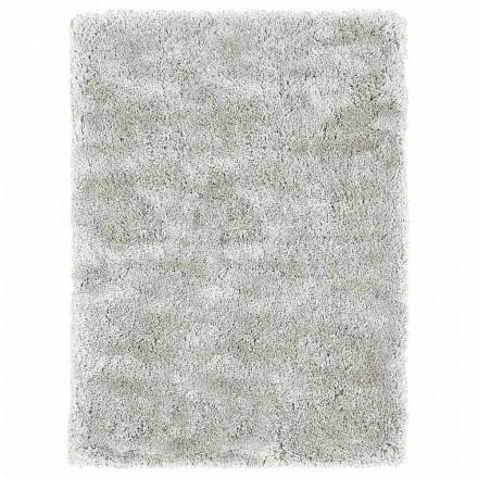Stor design med långhårig matta i färgad siden och bomull - Etesia