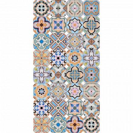 Modern matta med färgad Majolica i vinyl för vardagsrum - Calor