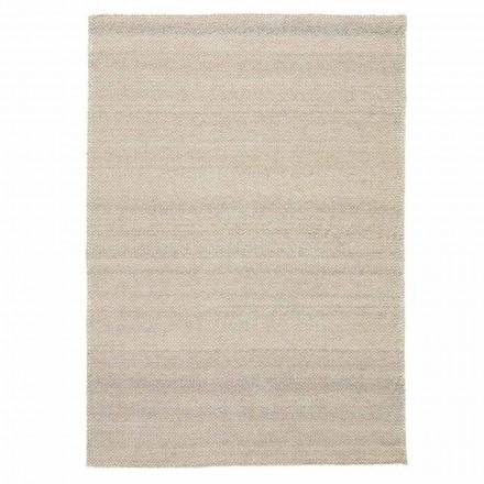 Modern handvävd vardagsrumsmatta i polyester och bomull - Soledad