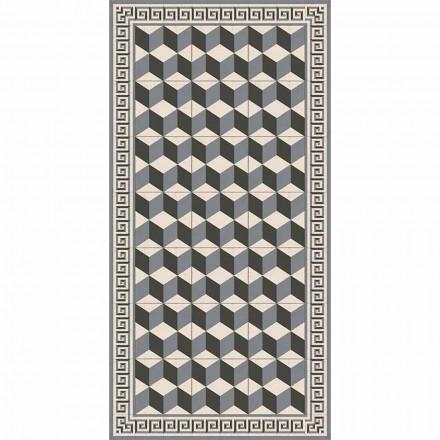 Modern vardagsrumsmatt i pvc och polyester med geometriska mönster - Romio