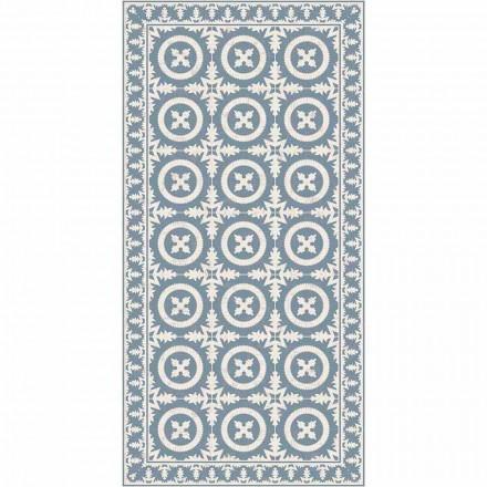 Modern vardagsrumsmatta i beige eller blå fantasivinyl - Bondo