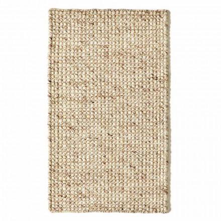 Modern handvävd ull- och bomullsvattensmatta - vrak
