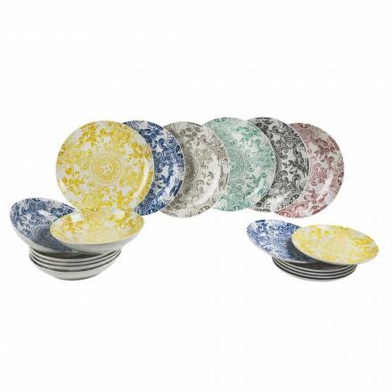 Porslinsfärgad servering av bord 18 stycken - Pizzotto