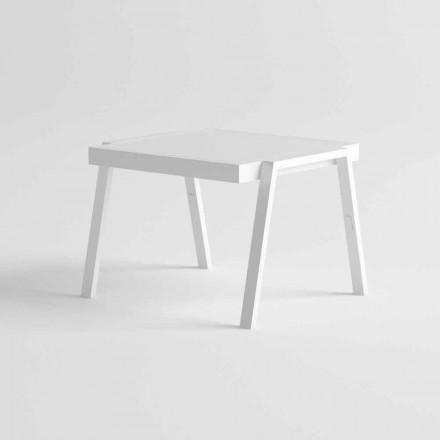 Modernt utomhus soffbord i aluminium och HPL - Carmine2