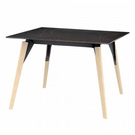 Soffbord i trä och marmoreffekt, 3 färger 2 storlekar - Faz Wood av Vondom