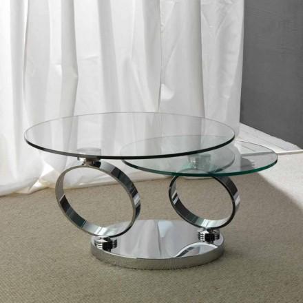 Bord med två runda toppar rörliga synkroniserad glas Chieti