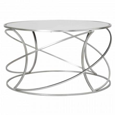 Låg soffbord för vardagsrum i järn och modern spegel - Corine