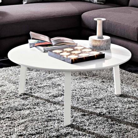 Soffbord med rund topp i lackerad Mdf Made in Italy - Tobiko