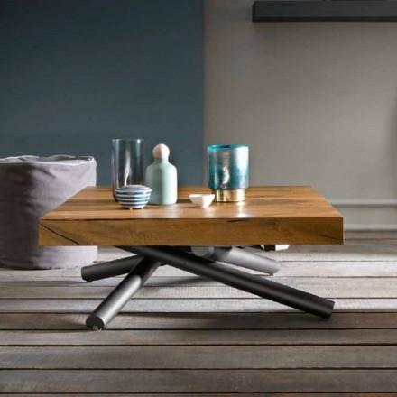 Omvandlande soffbord av design i trä tillverkat i Italien - Vincenzo